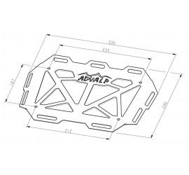 Top case rack - dimensions